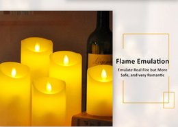 Wholesale Candles Sale Australia - NEW pillar 3-piece pack of real wax led candle lights for sale with warm lights flameless D7.5cm candle lights with 10-key remote