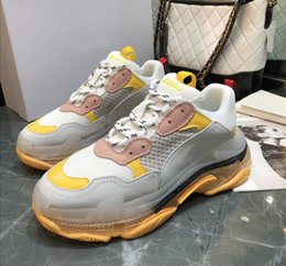 $enCountryForm.capitalKeyWord Australia - Paris 2019 Crystal Bottom Triple-S Leisure Shoes Dad Shoes Platform Triple S Sneakers for Men Women Vintage Kanye Old Grandpa Trainer A