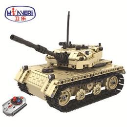 Model Military Tanks Australia - New Technic Military Remote Control RC Tank Electric Bricks Compatible Legoe Model Building Blocks Toys For Children Gifts