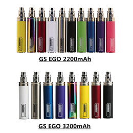 ego one vape battery NZ - Original GS Ego III 3200mAh & II 2200mAh Kgo One Week Battery E Cigarette Evod Twist Vision Spinner for Vape 510 T3S MT3 Atomizers Pen Kit