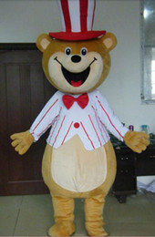 Wholesale bear costume sale online – ideas 2019 Factory sale hot Light and easy to wear teddy bear mascot costume with circus hat for adult to wear