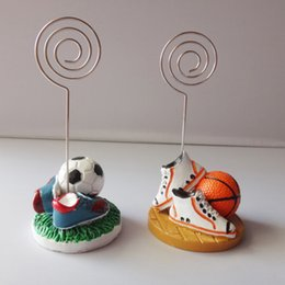Discount designer shoes baby Basketball Football Shoes Table Place Card Holder Name Card Picture Memo Clips for Birthday Baby Shower Party Decoration