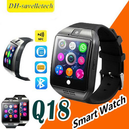 $enCountryForm.capitalKeyWord Australia - Q18 smart watch Mens Sport watches bluetooth smartwatch Wristwatch with Camera TF SIM Card Slot Pedometer Anti-lost for apple android phones