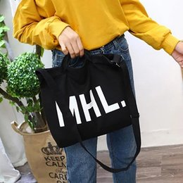 $enCountryForm.capitalKeyWord NZ - Canvas Shoulder Tote Letter Print Large Capacity Canvas Bag Hand Bags For Women Ladies Totes Crossbody Messenger Bag Handbags