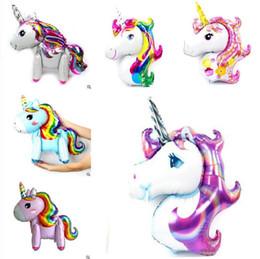 $enCountryForm.capitalKeyWord Australia - 3d Unicorn Balloon Cartoon Animals Foil Balloon For Birthday Party Decorations Kids Toys balloon 6 design dc589