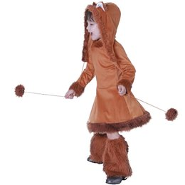 Fox Costumes For Halloween Australia - raspooky halloween costumes for kids Sweet Fox Girls Costume christmas birthday cosplay children dress hat and boot cover 2018 Eraspooky ...
