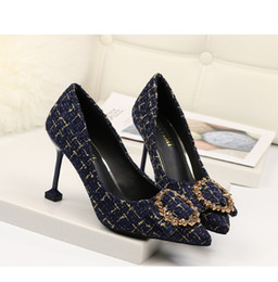 $enCountryForm.capitalKeyWord Australia - 2019 Free Shipping Styles Woven Material 8cm High Heels Shoes Black Bottom Nude Color Genuine Leather Point Toe Pumps Rubber Wedding Shoes
