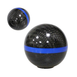 $enCountryForm.capitalKeyWord Australia - Blue Stripe Carbon fiber Gear Shift Knob for AT MT Shifter Lever 3 Aadapters switching adapters Cool Funny Automobile Acessories Auto Decora