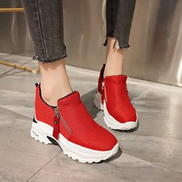 Lucyever 2019 New Spring Ladeis Casual Sneakers Women Height Increasing Vulcanized  Shoes Woman Footwear Leisure Ankle Boots a374bab6a557