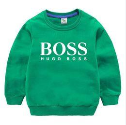 Toptan satış Çocuklar Hoodies Sweatshirt Erkek Kız Çocuk Karikatür Baskı Pamuk Kazak 2-8 Yıl için Bebek Çocuk Casual Sonbahar Giyim Tops