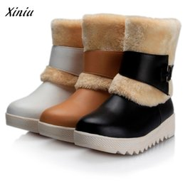 $enCountryForm.capitalKeyWord NZ - Women's Belt Buckle Casual Shoes Flat-With Snow Boots High Quality Vintage Designer Short Plush Warm Boots Zapatillas Mujer