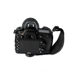 Toptan satış Nikon, Sony Canon için Kamera Bilek Kayışı Siyah Kaymaz Suni Deri Bilek Kamera Kayış Fotografik Aksesuar