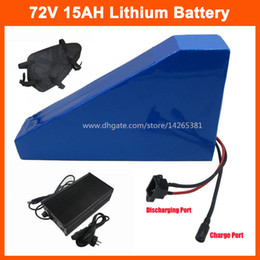 Electric 72v Battery Australia - Free customs tax 2000W 72V 15AH Electric bike Battery 72V 15ah Triangle lithium scooter battery with 30A BMS free bag 84V 2A Charger