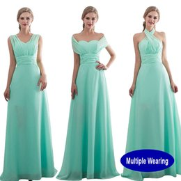 out shower Australia - Creative Bridesmaid Dress Long 2019 New Design Bridal Shower Chiffon Wedding Party Wearing Formal Junior Prom Dress Vestide De Y19042701