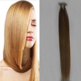 "Nail Tip Human Hair Extensions Australia - Peruvian virgin 1g pc 14"" 16"" 20"" 24"" Fusion Hair Extensions Straight Machine Made Remy Nail V TIP Hair Keratin Pre Bonded Human Hair 100g"