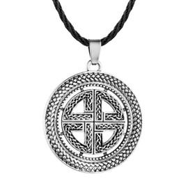 Male Pendant Design Australia - Slavic Design Imitation Silver Choker Necklace Female Male Cross Pendant Necklaces for Women 2019 Fashion Coin Jewelry