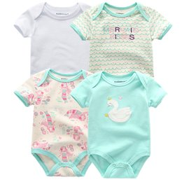 $enCountryForm.capitalKeyWord Australia - 4 Pcs lot Baby Romper Pink Red Short Sleeve Cute Suit Clothes Sets 2019 Summer Jumpsuit Baby Boy Girl Clothing Baby Costume J190524