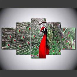 $enCountryForm.capitalKeyWord Australia - 5 Pieces.Beautiful Animal Peacock,Home Decor HD Printed Modern Art Painting on Canvas (Unframed Framed)