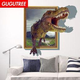$enCountryForm.capitalKeyWord NZ - Decorate home 3D dinosaur cartoon art wall sticker decoration Decals mural painting Removable Decor Wallpaper G-857