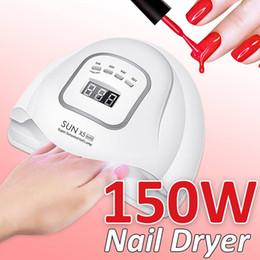 Prego SUN X5 MAX 150W LED lâmpada UV do prego Secador de curar todos Gel Polish 10s 30s 60s 99s inteligente Luz Manicure Kit em Promoção