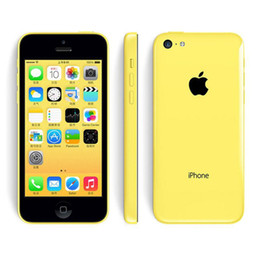 Iphone Refurbished 16gb Australia - Apple iPhone 5C iPhone5C With Fingerprint 1GB RAM 16GB 32GB ROM IOS 8 4.0 inch 3G WCDMA GPS Bluetooth Original Refurbished Cellphone