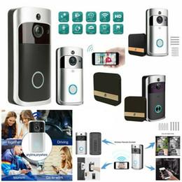 Wholesale cat videos for sale – custom Wireless WiFi Video Doorbell Smart Phone Door Ring Intercom Security System IR Visual HD Camera Bell Waterproof Cat Eye