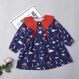 4b7382b40a Ropa para bebés Ropa de otoño Primavera 2019 Nuevo estilo Ropa para niños  Volantes de encaje Manga completa Vestido de niña linda Flor