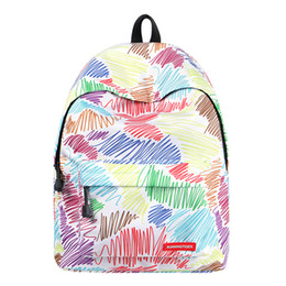 Cute Backpacks For Teenage Girls Australia - Women's laptop backpack Women Abstract lines Fahion small cute backpack school College bags for teenage girls Travel back pack