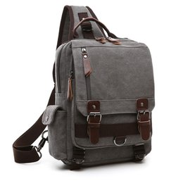 messenger shoulder bag canvas backpack NZ - Canvas Cross Body Messenger Bag Shoulder Sling Backpack Travel Rucksack