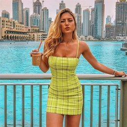 bodycon tank Canada - 2019 new fashion popular Women Fashion Women Sexy lattice Backless Basic Dresses Sleeveless Slim Vest Tanks Bodycon Dress Strap Solid Dress