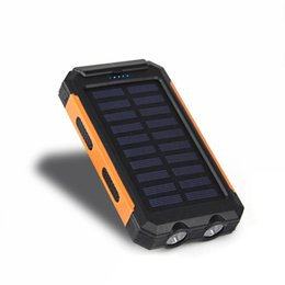 Bateria charger online shopping - Waterproof Solar Power Bank mah Solar Battery Charger Bateria Externa Portable Charger Powerbank With LED Light Compass
