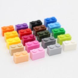 Assemble Blocks Australia - Moc Creative Brick 1 X 2 3004 Diy Basics Enlighten Building Blocks Parts Sets Compatible Assembles Particles Toys For Children Y190606