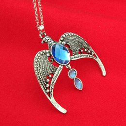 Vintage Eagle Pendant Australia - The lost crown of Ravenclaw Ravenclaw Necklace Horcrux Vintage Antique Silver Eagle Crown Diadem Pendant Jewelry For Women-P