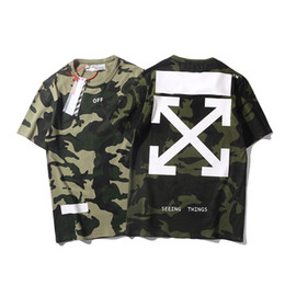 Wholesale camouflage tee shirts for sale – custom Tide Card Easy Summer New Pattern Arrow Basics Printing Green Camouflage T shirts Lovers Short Sleeve T T shirt Men And Women TEE