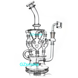 Klein water pipes online shopping - 2019 Klein Recycler Tornado Percolator Glass Bong Wax Pipe Bongs Water Pipes Oil Dab Rigs With Heady Quartz Banger Or Bowl dabber nail