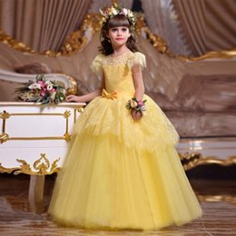 Wholesale make even clothes resale online – Ladies dress princess evening dress children long party dresses flower girl dress first communion baby costume ball gown clothing