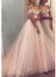 $enCountryForm.capitalKeyWord Australia - 2020 Modern Design Colorful Wedding Dresses Off Shoulder Crystals A Line Sweep Train Pleated Ruched Tulle Bridal Gowns Custom Size