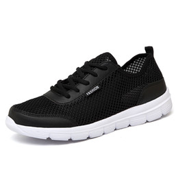 mens summer lace casual shoes Australia - 35-48 Men Shoes Summer Sneakers Breathable Fashion Mesh Casual Shoes Couple Lover Mens Mesh Big Plus Size Lace up Shoe
