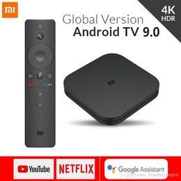 Venta al por mayor de Xiaomi Mi caja de la TV S 4 Android 8.1 4K HD QuadCore inteligente Bluetooth 2 GB 8 GB HDMI inalámbricas establecidas Rectángulos Media Player