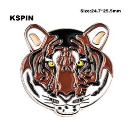 tiger pins 2019 - Tiger Lapel Pin Flag Badge Lapel Pins Badges Brooch XY0115 cheap tiger pins
