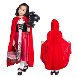 little red riding hood movie costume Canada - Little Red Riding Hood Children Cosplay Fancy Dress Cosplay Outfit Carnival Costume SM1847