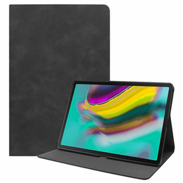 $enCountryForm.capitalKeyWord Australia - For Samsung Galaxy Tab S5e 10.5 T720 T725 Tablet Retro Matt Wallet Leather Case Luxury Sleep & Wake Up Stand Magnetic Smart Skin Cover 1pcs