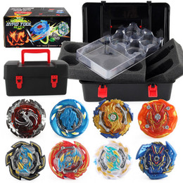 beyblades metal fusion toys NZ - Top Toupie Beyblades Metal Fusion Beyblades Set Storage Box Top Bayblade burst bey blade Launcher Spinning Gyro Starter Toys For Children