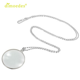Discount sexy glasses - Diomedes Newest DIOMEDES New 6x Magnifier Pendant Necklace Magnify Glass Reeding Decorativ Monocle Necklace Sexy Chain