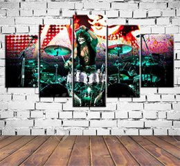 kissing cartoon Australia - Kiss Eric Singer,5 Pieces HD Canvas Printing New Home Decoration Art Painting  Unframed   Framed