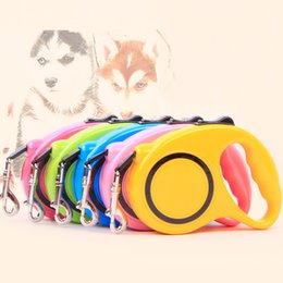5m belt UK - Pet Automatic Retractable Traction Rope Magic Pet Dog Cat Puppy Leash Outdoor Walking Rope Dog 3m 5m Portable Leash Belt DH0385 T03