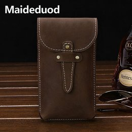 $enCountryForm.capitalKeyWord Australia - Wholesale and retail 2018 hot sale Men Fashion Waist Packs Crazy Horse Genuine Leather Bag coffee and brown color Pumping Handset Purse
