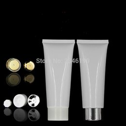 Skin Facial Products Australia - Empty Facial Cleanser Cosmetic Hose 100ml White Hand Cream Soft Tube 100g Lotion Cosmetic Skin Care Products Packaging 50pcs Lot