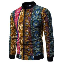 Floral Jacket Zip Australia - Slim Men's Floral Jacket Men's Jacket Casual Style Color Comfortable Zip Jacket