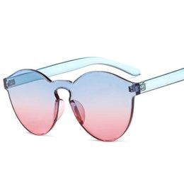 Gradient Color Sunglasses Australia - New Sunglasses Fashion Women's Trends Sunglasses Candy Color Gradient Siamese Glasses Women's Sung lasses
